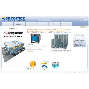 SOCOMEC : Site institutionnel